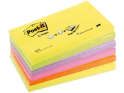 Notes POST-IT Z-block 76x127mm neon 6/FP