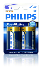 Batteri LR20 (D) Alkaliska 2-pack Philips