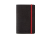 Ant.bok OXFORD Black n´Red A6 soft linj