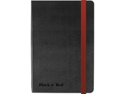 Ant.bok OXFORD Black n´Red A6 hard linj