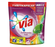 Via Tvättkapslar Color 17-p
