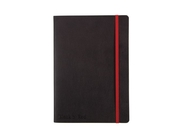 Ant.bok OXFORD Black n´Red A5 soft linj
