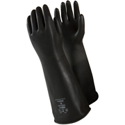 Latexhandske Marigold Black Heavyweight 7,5 M